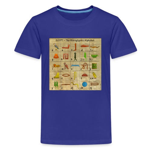 The Hieroglyphic Alphabet - Teenager Premium T-Shirt