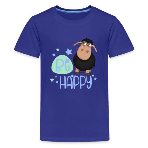 Schwarzes Schaf - Be happy Schaf - Glücksbringer - Teenager Premium T-Shirt