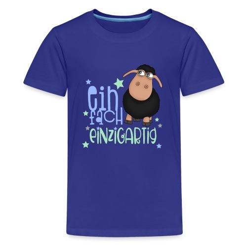 Einfach einzigartig: schwarzes Schaf kleines Schaf - Teenager Premium T-Shirt