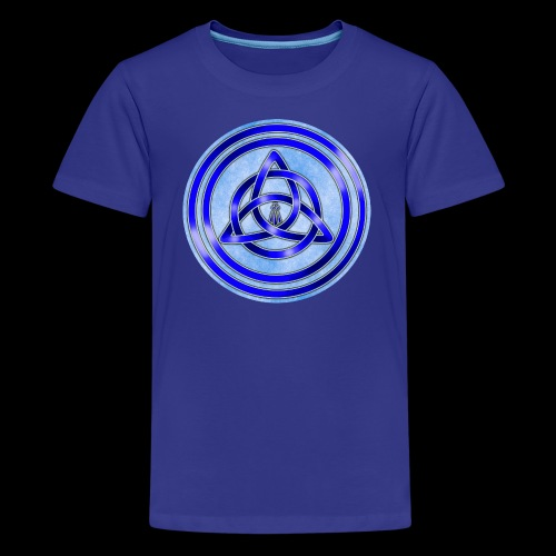 Awen Triqueta Circle - Teenage Premium T-Shirt