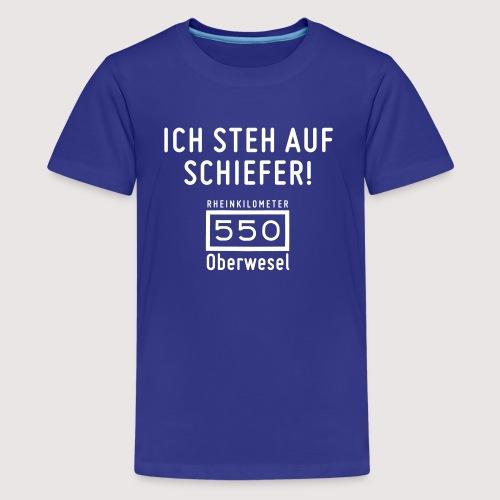 Ich steh auf Schiefer - Teenager Premium T-Shirt