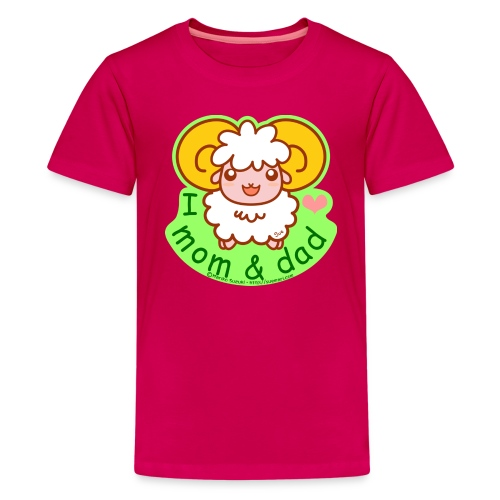 I Love Mom and Dad - Teenage Premium T-Shirt