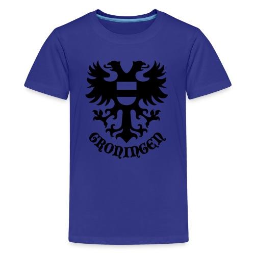 stadswapen groningen met tekst - Teenager Premium T-shirt