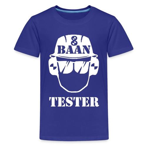 Achtbaan tester tshirt van Baas Bots - Teenager Premium T-shirt