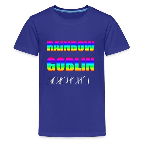 Rainbow Goblin Farming Gamer Shirt Geschenk - Teenager Premium T-Shirt