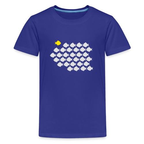 Verandervis - durf anders te zijn - Teenager Premium T-shirt