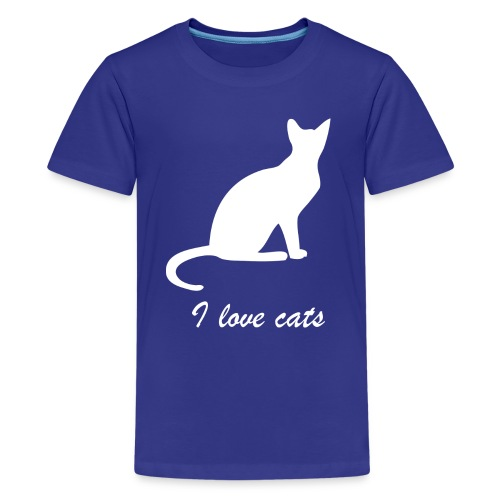 i love cats - Teenager Premium T-Shirt
