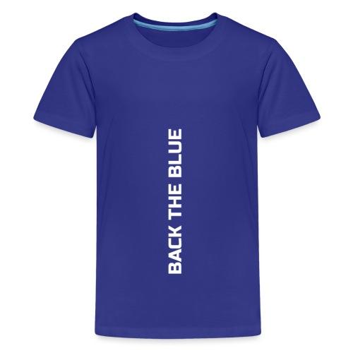 Back the Blue vertical - T-shirt Premium Ado