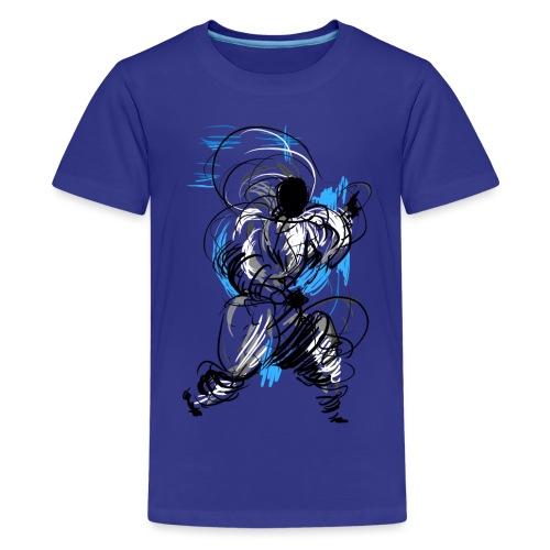 Kung Fu wizard - Teenage Premium T-Shirt