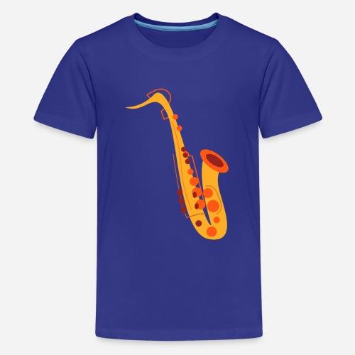 Goldenes Saxophon - Teenager Premium T-Shirt