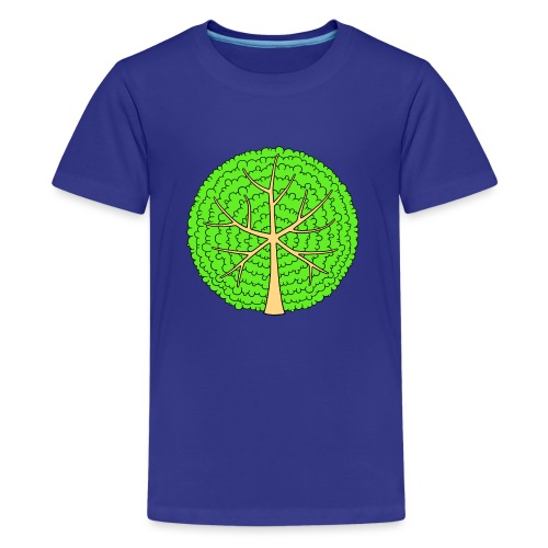 Baum, rund, hellgrün - Teenager Premium T-Shirt