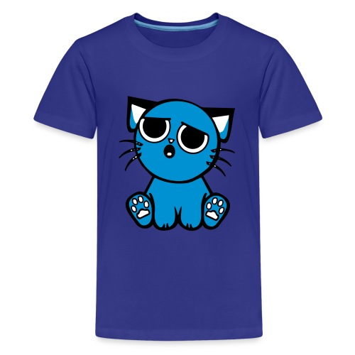 Kitty blues - Teinien premium t-paita