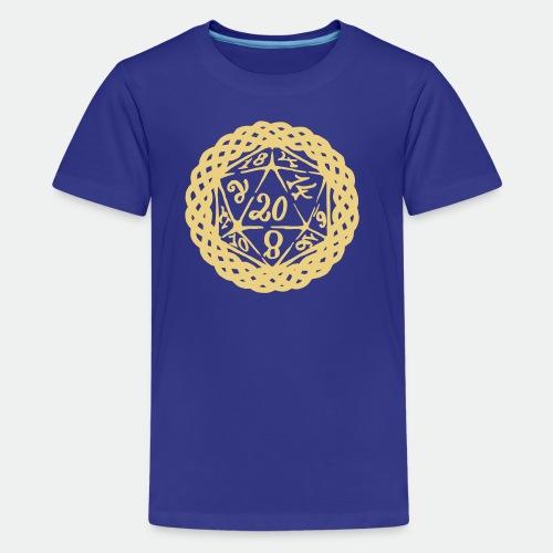 D20 Geschenk Glücksbringer Rollenspiel Würfel - Teenage Premium T-Shirt
