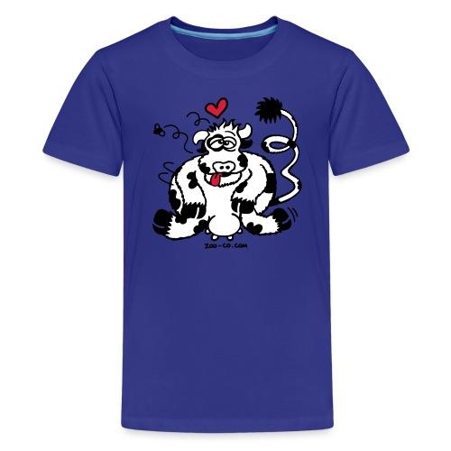 Unbridled Cow's Passion - Teenage Premium T-Shirt
