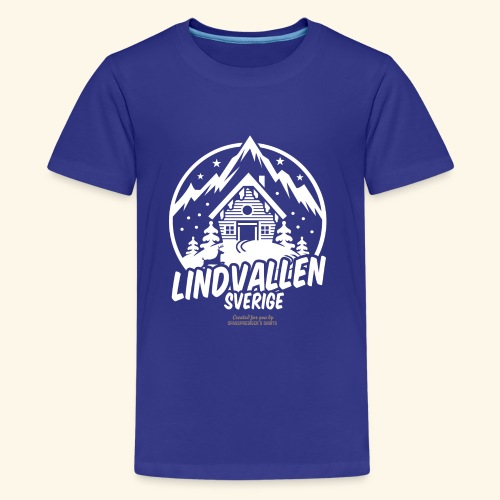 Lindvallen Sälen Sverige Ski Resort T Shirt Design - Teenager Premium T-Shirt