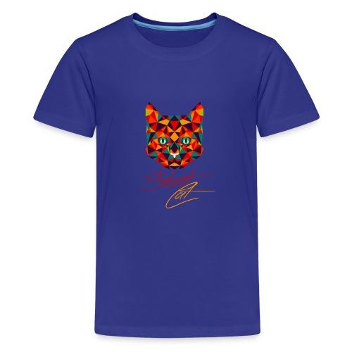 Straßen Cat (neumodisches Design) - Teenager Premium T-Shirt