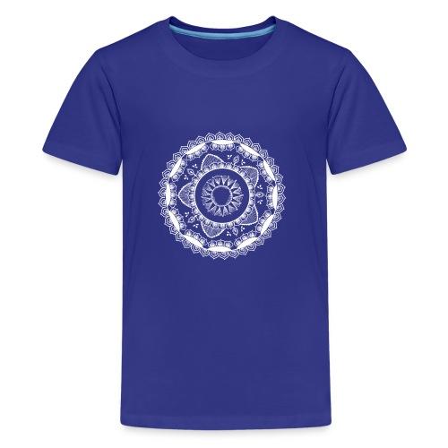 Yoga mandala for Sun salutations - Premium T-skjorte for tenåringer