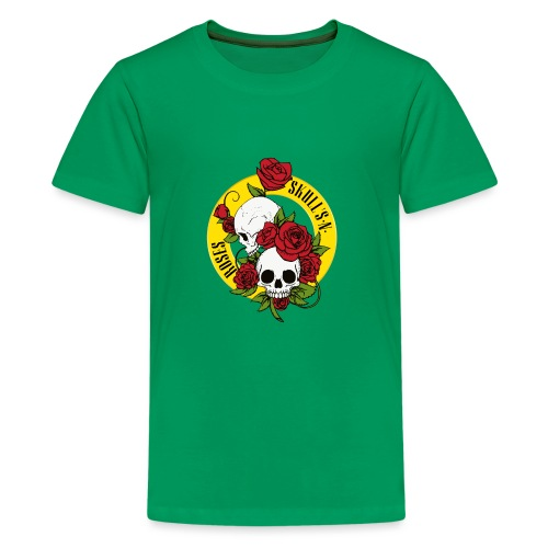 SKULL'S N ROSES - Camiseta premium adolescente