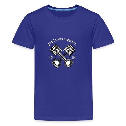 gls kolv vit - Premium-T-shirt tonåring