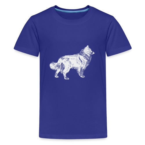 Collie negativ - Teenager Premium T-Shirt