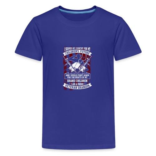 Veteran Grandpa - Teenager Premium T-Shirt