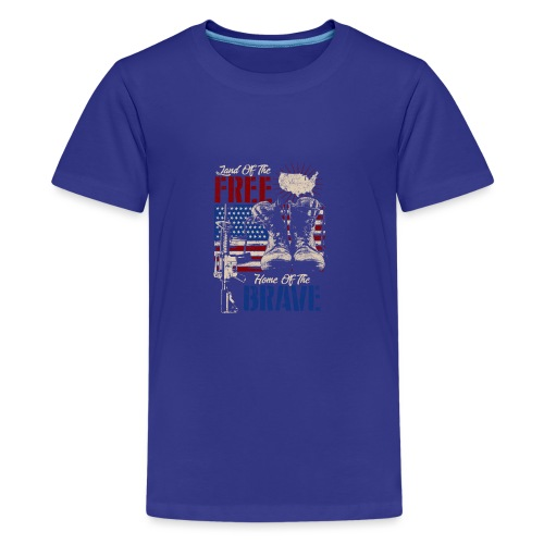 Land of the Free - Home of the Brave - Teenager Premium T-Shirt
