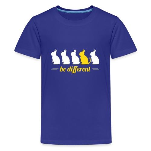 be different Hasen Kanichen Ostern bunny Häschen - Teenager Premium T-Shirt