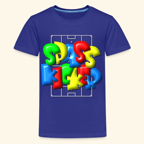 Spass Kicker im Fußballfeld - Balloon-Style - Teenager Premium T-Shirt