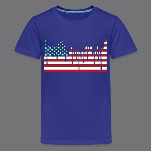 USA FLAG Tee Shirts - Teenage Premium T-Shirt