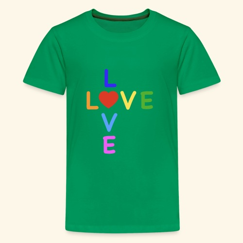 Rainbow Love. Regenbogen Liebe - Teenager Premium T-Shirt