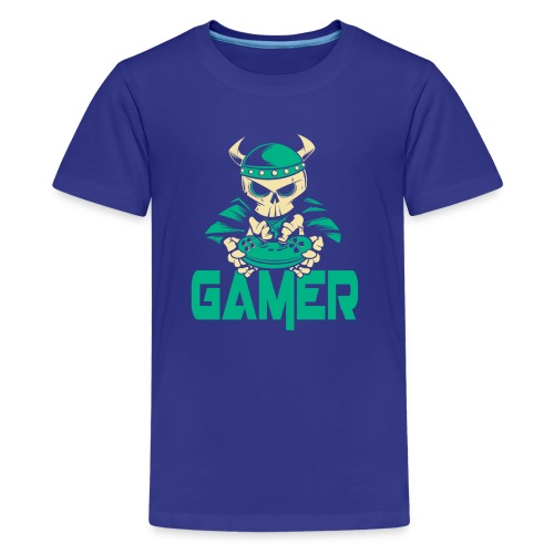 gamer skelett wikinger - Teenager Premium T-Shirt