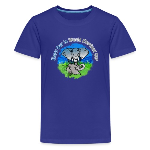 Every Day Is World Elephant Day - Teenager Premium T-Shirt