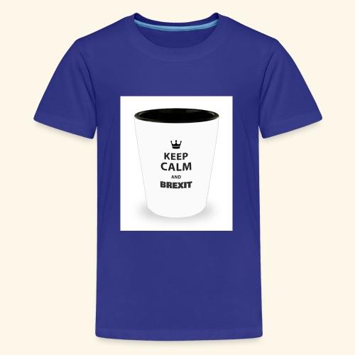 Shot Glass with inscriptions Keep Calm & Brexit - Teenage Premium T-Shirt