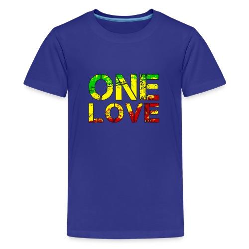 One Love - Reggea Musik - Teenager Premium T-Shirt