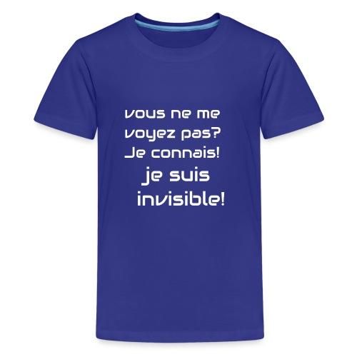 Invisibile #invisibile - Maglietta Premium per ragazzi