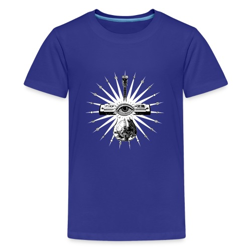 Blues Is The Truth - white star - Teenage Premium T-Shirt