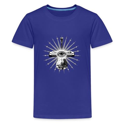 Blues Is The Truth - grey star - Teenage Premium T-Shirt