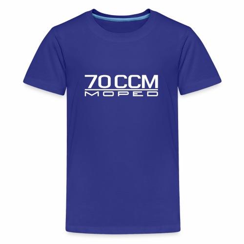 70 ccm Moped Emblem - Teenage Premium T-Shirt
