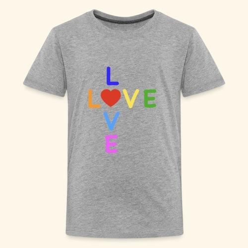 Rainbow Love. Regenbogen Liebe - Teenager Premium T-Shirt