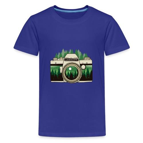Cámara de Paisaje - Camiseta premium adolescente