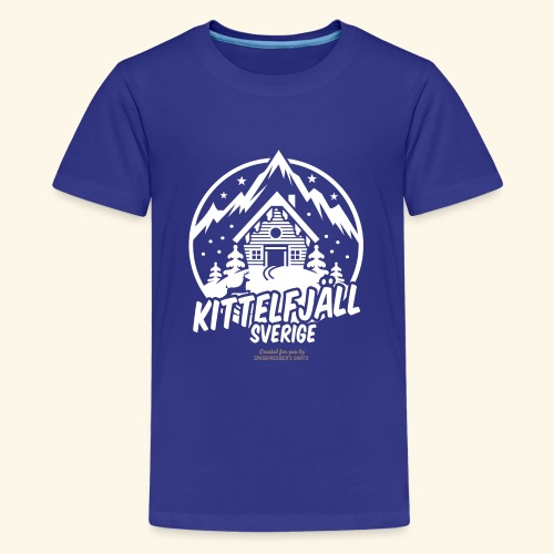Kittelfjäll Ski Resort T Shirt Design - Teenager Premium T-Shirt