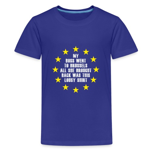 Lousy-Brexit-shirt - Teenage Premium T-Shirt