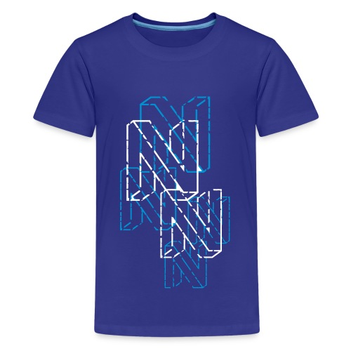 Neos logo trashed (neg) without URL, 2-color - Teenage Premium T-Shirt