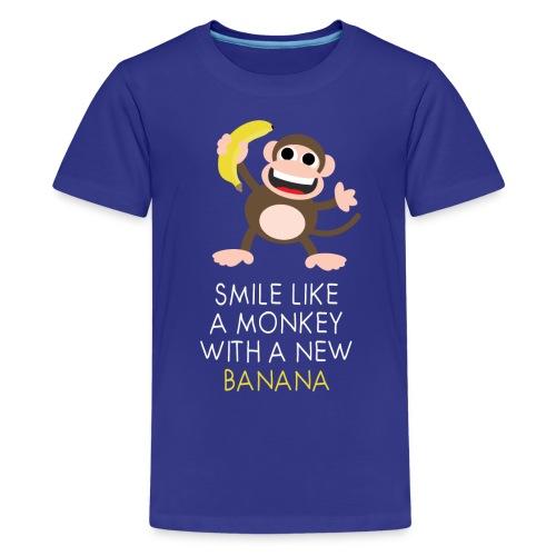 Monkey with banana - Teenager Premium T-Shirt