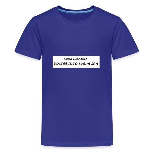 firma kurierska tyl - Koszulka młodzieżowa Premium