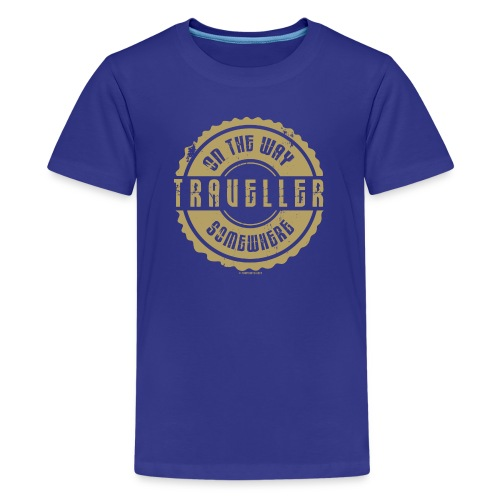On The Way Somewhere, Traveller Textiles, Gifts - Teinien premium t-paita