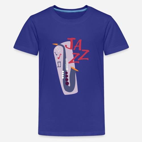 Saxophon Comic Style - Teenager Premium T-Shirt