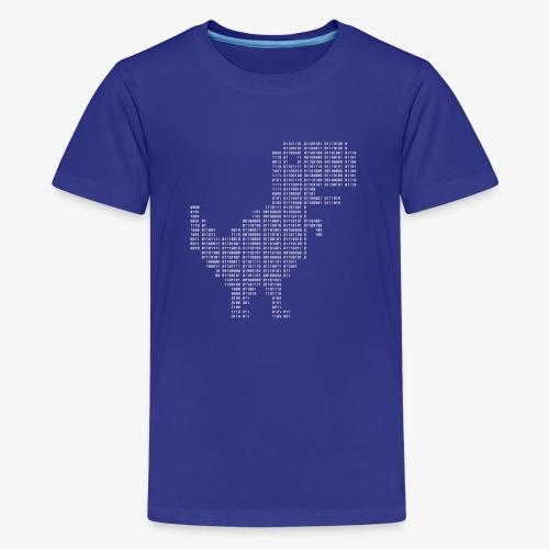 Google dinosaur   Dinosaur Binary   Dino   404 - Teenage Premium T-Shirt