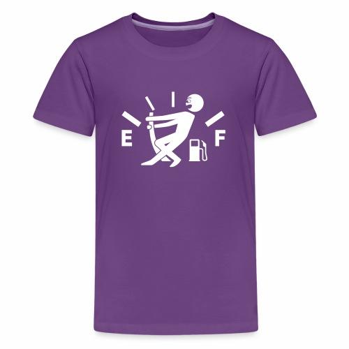 Empty tank - no fuel - fuel gauge - Teenage Premium T-Shirt