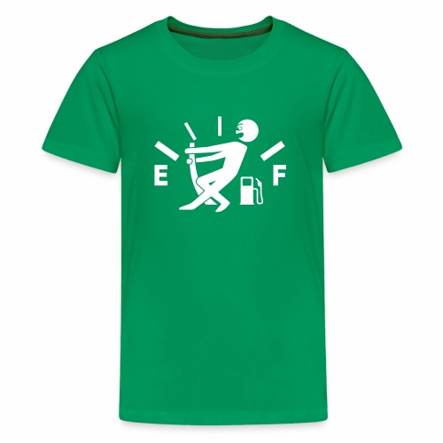Empty tank - no fuel - fuel gauge - Teenage Premium T-Shirt